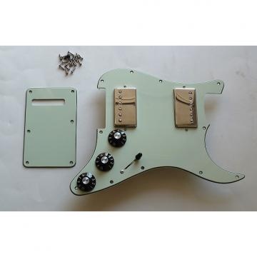 Custom 2011 Fender Blacktop Stratocaster HH Loaded Pickguard 5-Way Strat Mint Green