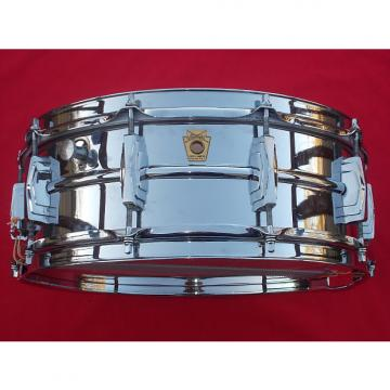 Custom Vintage 1960s Ludwig 5x14 Supraphonic Chrome Over Brass Snare Drum