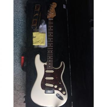 Custom Fender American Standard Stratocaster 2015 Olympic White w/ Rosewood board, all Case Candy