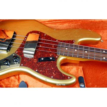 Custom Fender Custom Shop 64 Jazz Bass Relic 2016 Aztec Gold Matching Gold Hardware Cruz Tool Kit RARE!