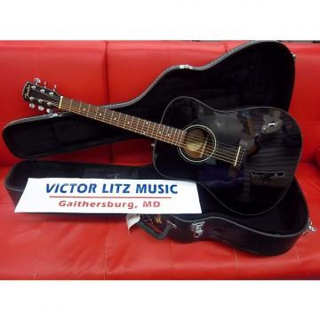 Custom Fender CD-60 Dreadnought Acoustic Guitar Black with OHSC