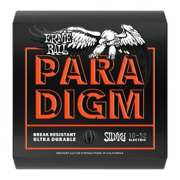 Custom Ernie Ball 2015 Paradigm Guitar Strings, Skinny Top Heavy Bottom (10-52)