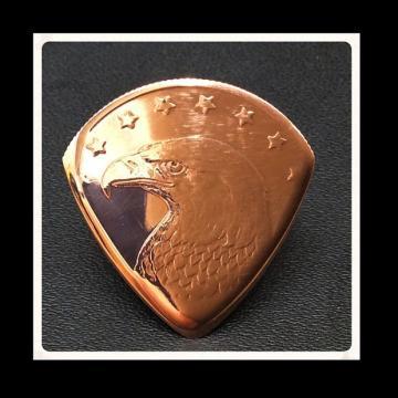 Custom Plectrum / Guitar Pick. Golden State Mint, Eagle Head Cooper Bullion Coin
