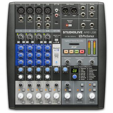 Custom Presonus - StudioLive AR8 USB 8-Channel hybrid Performance and Recording Mixer