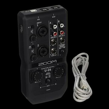 Custom Zoom U-24-Channel Audio Interface - Repack with 6 Month Alto Music Warranty