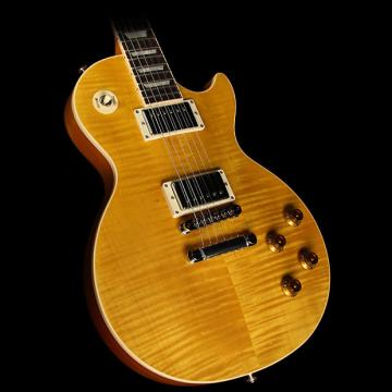 Custom Used 2016 Gibson Les Paul Standard Electric Guitar Translucent Amber