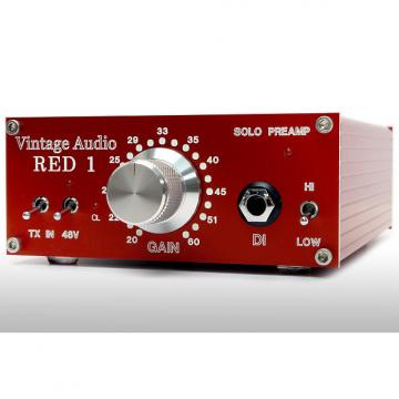 Custom Vintage Audio: Red Solo Preamp, Desktop Boutique Mic Preamp and Di!