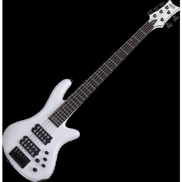 Custom Schecter Stiletto Stage-5 Electric Bass Gloss White