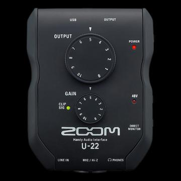 Custom Zoom U-22 Handy Audio Interface - Repack with 6 Month Alto Music Warranty