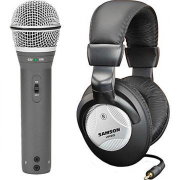 Custom Samson Q2U Recording Pak USB/XLR Mic & HP20 Headphones package set
