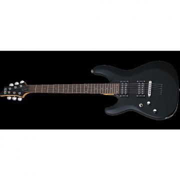 Custom Schecter C-6 Deluxe Left-Handed Electric Guitar Satin Black