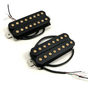 Custom Bare Knuckle Aftermath 8-String Calibrated Open Guitar Pickup Set Gold Bolts