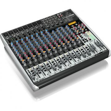 Custom BEHRINGER XENYX QX2222USB 22-Input 2/2-Bus Analog Mixer USB/Audio Interface + Multi-FX