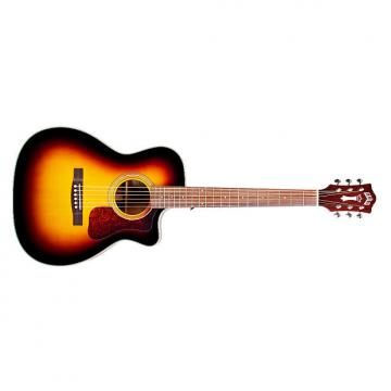 Custom Guild OM-140CE Westerly Orchestra CE Cutaway Acoustic Guitar Sunburst + Case