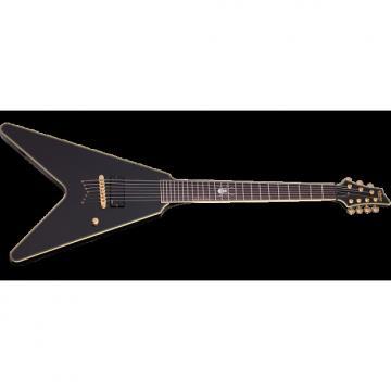 Custom Schecter Signature Chris Howorth V-7 Electric Guitar Metallic Black