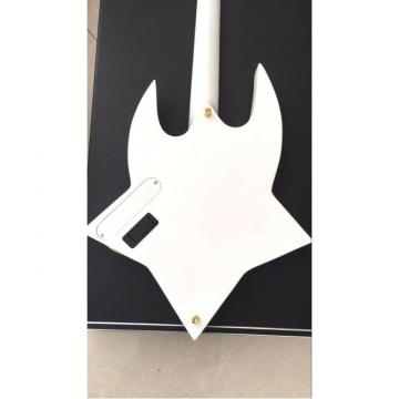 Project Washburn White Bootsy 4 String Bass With Crystals LED Star Inlays