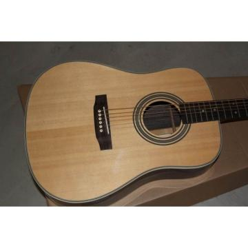 Custom Shop Martin D28 Solid Spruce Top Acoustic Guitar Sitka Solid Spruce Top With Ox Bone Nut & Saddler