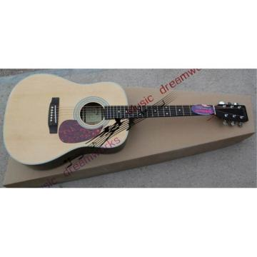 Custom Shop Martin D28 Natural Finish Acoustic Guitar Sitka Solid Spruce Top With Ox Bone Nut & Saddler