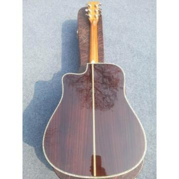 Custom Shop Martin D45 Natural Acoustic Electric Guitar Cutaway Fishman EQ Sitka Solid Spruce Top With Ox Bone Nut & Saddler