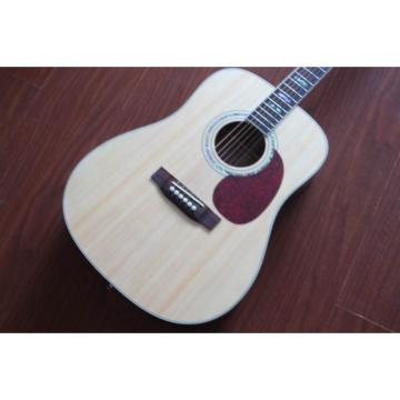 Custom Shop CMF Martin D45 Natural Acoustic Guitar Sitka Solid Spruce Top With Ox Bone Nut & Saddler