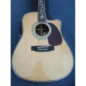 Custom Shop 1833 Martin D45 Natural Acoustic Guitar Cutaway Sitka Solid Spruce Top With Ox Bone Nut & Saddler