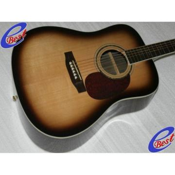 Custom CMF Martin Veneer D90 Acoustic Guitar Sitka Solid Spruce Top With Ox Bone Nut & Saddler