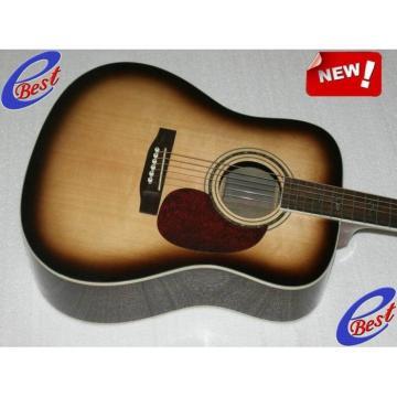 Custom CMF Martin Veneer D90 Acoustic Guitar Sitka Solid Spruce Top With Ox Bone Nut & Saddler