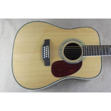 Custom 1833 Martin D45 Natural Acoustic 12 String Guitar Sitka Solid Spruce Top With Ox Bone Nut & Saddler