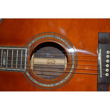 Custom 1833 Martin D45 Amber Acoustic Guitar Sitka Solid Spruce Top With Ox Bone Nut & Saddler