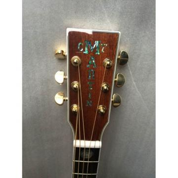 Custom Dreadnought Martin D45 Electric Acoustic Guitar Fishman Pickups Sitka Solid Spruce Top With Ox Bone Nut & Saddler