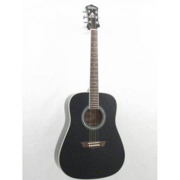Washburn WD55/BK Solid Top Delux Dreadnought Acoustic Guitar Demo #GG4