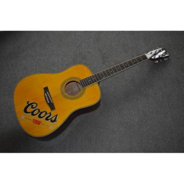 Project Coors Banquet Acoustic Guitar With Custom Coors Logo