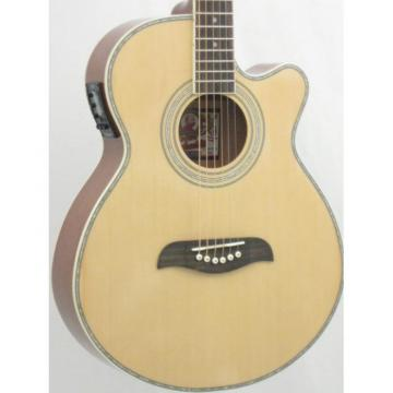 Oscar Schmidt OG10CEN Natural Gloss Electric Acoustic Guitar