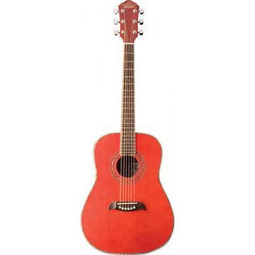 Oscar Schmidt OG1/TR Transparent Red 3/4 Size Acoustic Guitar