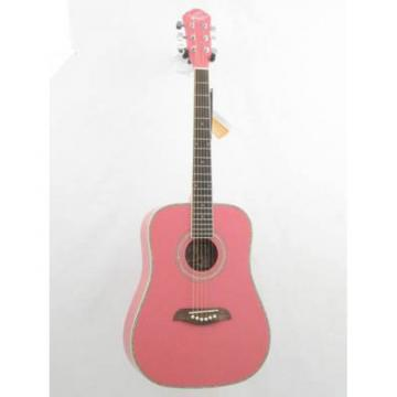 Oscar Schmidt OG1/P Smaller 3/4 Size Pretty Pink Acoustic Guitar