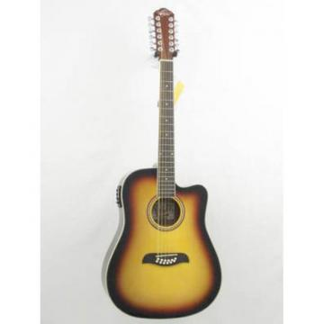 Oscar Schmidt OD312CE/TS Sunburst 12 String Electric Acoustic Guitar