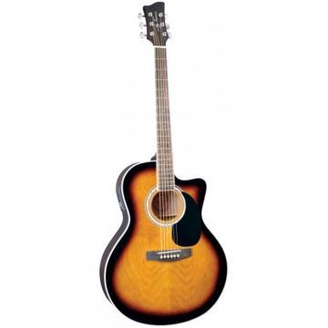 Jay Turser JTA444-CET Series Acoustic Guitar Tobacco Sunburst