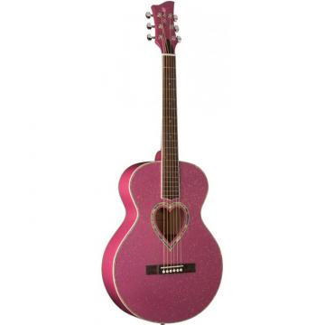 Jay Turser JJ-Heart Series Acoustic Guitar Purple Sparkle
