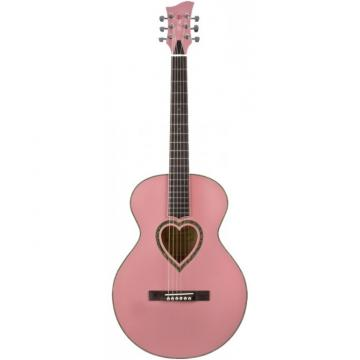 Jay Turser JJ-Heart Series Acoustic Guitar Pink
