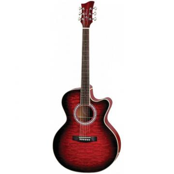 Jay Turser JTA424Q-CET Series Acoustic Guitar Red Sunburst