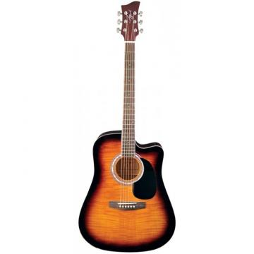 Jay Turser JJ-45FCET Series Acoustic/Electric Guitar Tobacco Sunburst