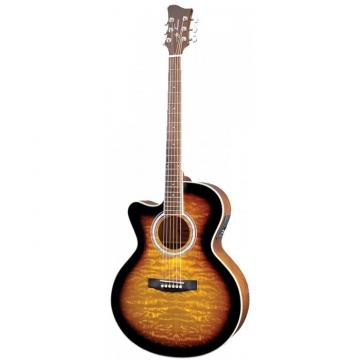 Jay Turser JTA424Q-CET Series Acoustic Guitar Left Handed - Tobacco Sunburst