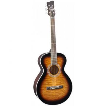 Jay Turser JTA-414Q Series Acoustic Guitar Tobacco Sunburst