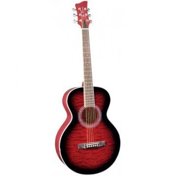 Jay Turser JTA-414Q Series Acoustic Guitar Red Sunburst