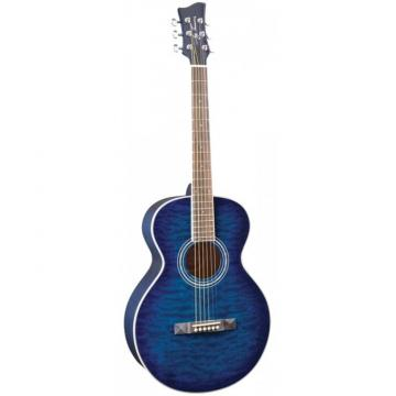 Jay Turser JTA-414Q Series Acoustic Guitar Blue Sunburst