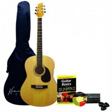 Kona K394D Acoustic Guitar Starter Pack For Dummies