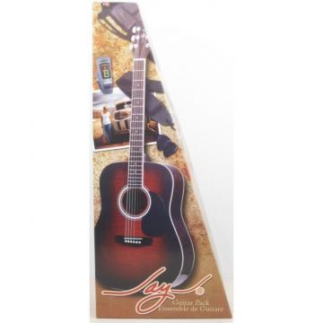 Jay Turser JJ45F/TSB Flame Top Acoustic Guitar Beginner Pack