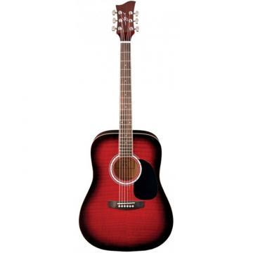 Jay Turser JJ-45F Series Acoustic Guitar Red Sunburst