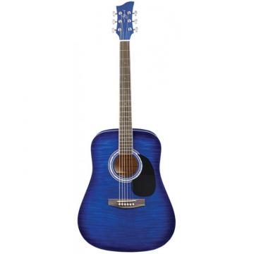 Jay Turser JJ-45F Series Acoustic Guitar Blue Sunburst