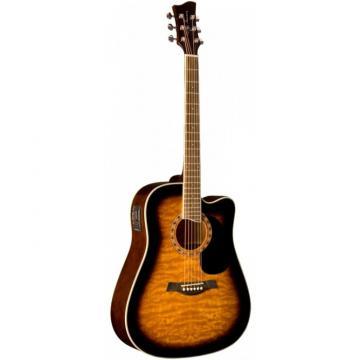 Jay Turser JTA454-QCET Series Acoustic Guitar Tobacco Sunburst